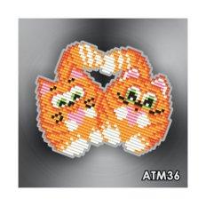 фото: магнит в алмазной технике Коты неразлучники