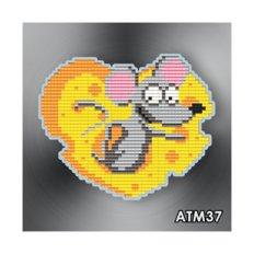 фото: магнит в алмазной технике Сырное сердечко