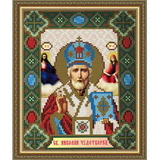 Набор в технике алмазная вышивка Икона Святой Николай Чудотворец