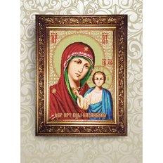 Набор для бисероплетения икона Образ Пресвятой Богородицы Казанская