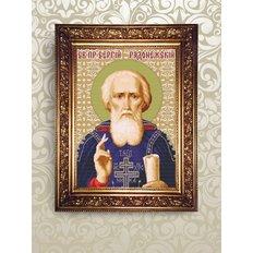 Набор для бисероплетения икона Святой Преподобный Сергий Радонежский
