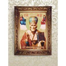 Набор для бисероплетения икона Святой Николай Чудотворец