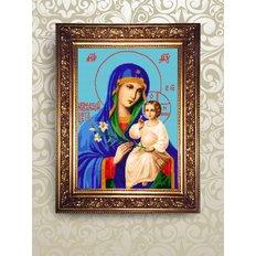 Набор для бисероплетения иконы Образ Пресвятой Богородицы Неувядаемый Цвет