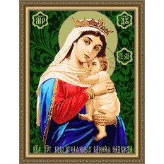 Набор для бисероплетения Икона Образ Богородицы Отчаянных единая надежда