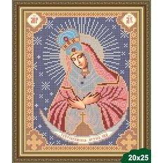 Схема для вышивки бисером Божия Матерь Остробрамская