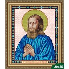 Схема для вышивки бисером Икона Святой Виталий