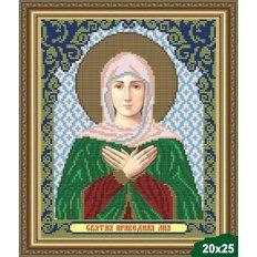 Схема для вышивки бисером Икона Святая Лия (Лилия)