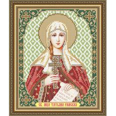 Схема для вышивки бисером Икона Святая Мученица Татьяна Римская