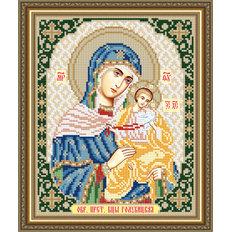 Схема для вышивки бисером Икона Голубицкая Образ Пресвятой Богородицы
