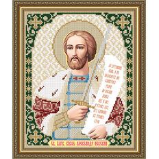 Схема для вышивки бисером Икона Благоверный Князь Александр Невский