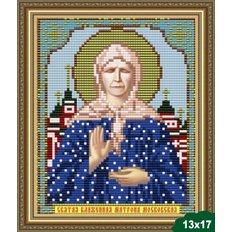 Схема для вышивки бисером Икона Святая Блаженная Матрона