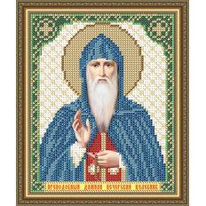 Схема для вышивки бисером Икона Преподобный Дамиан Печерский Целебник