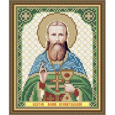 Схема для вышивки бисером Икона Святой  Иоанн Кронштадский