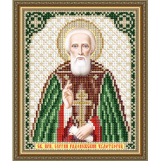 Схема для вышивки бисером Икона Святой Преподобный Сергий Радонежский Чудотворец