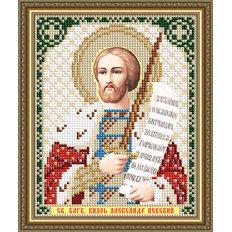 Схема для вышивки бисером Икона Святой Благоверный Князь Александр Невский