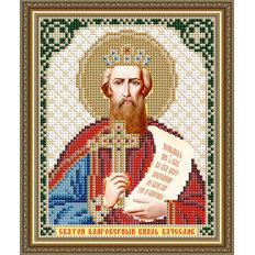 Схема для вышивки бисером Икона Святой Благоверный Князь Вячеслав