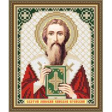 Схема для вышивки бисером Икона Святой Зиновий Епископ Егейский