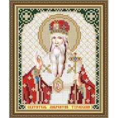 Схема для вышивки бисером Икона Святитель Лаврентий Туровский