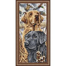 фото: картина для вышивки бисером: пара лабрадоров