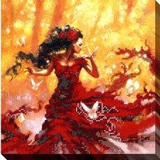 фото: картина для вышивки бисером Тайны леса