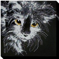 фото: картина для вышивки бисером Кошка