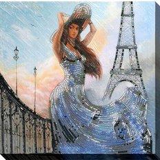 фото: картина для вышивки бисером Француженка