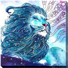 фото: картина для вышивки бисером Благородный лев