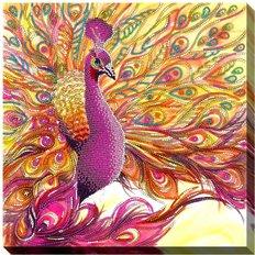 фото: картина для вышивки бисером Павлин