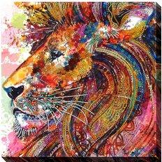 фото: картина для вышивки бисером Лев
