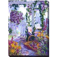 фото: картина для вышивки бисером Цветочный дворик