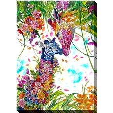 фото: картина для вышивки бисером Жирафы