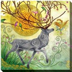 фото: картина для вышивки бисером Благородный олень