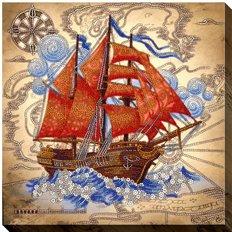 фото: картина для вышивки бисером Алые паруса