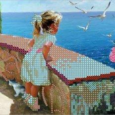 фото: картина для вышивки бисером Море и чайки