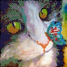 фото: картина для вышивки бисером Бабочка