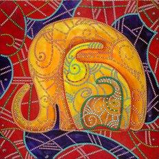 фото: картина для вышивки бисером Три слона