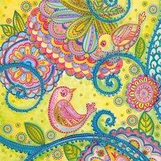 фото: картина для вышивки бисером Птицы и цветы