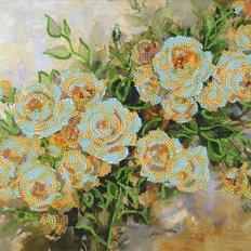 фото: картина для вышивки бисером Кремовые розы