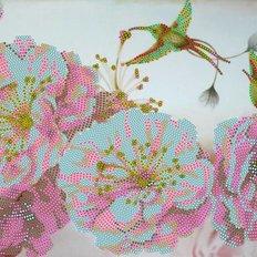 фото: картина для вышивки бисером Весенние цветы