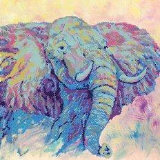 фото: картина для вышивки бисером Африканский слон