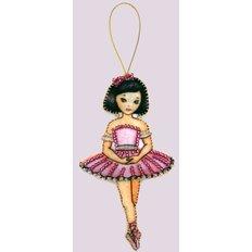 фото: вышитая бисером игрушка, Балерина
