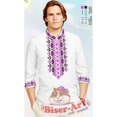 фото: вышитая бисером и сшитая из заготовки мужская рубашка