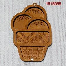 фото: деревянный органайзер с прозрачной крышкой для бисера