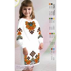 фото: вышитое бисером и сшитое из заготовки детское платье