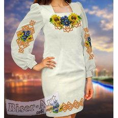 фото: вышитое бисером женское платье