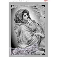 фото: схема для вышивки бисером, Мадонна с младенцем