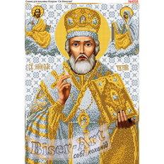 изображение: икона для вышивки бисером или нитками Николай Чудотворец