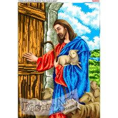 фото: схема для вышивки бисером, Иисус стучит в дверь