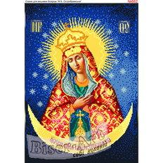 изображение: икона для вышивки бисером или нитками Остробрамская