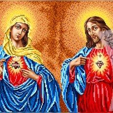 изображение: икона Дева Мария и Иисус Христос для вышивки бисером или нитками